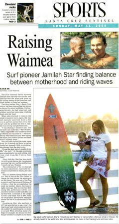 Image of Newspater story on Jamilah Star and son, Waima