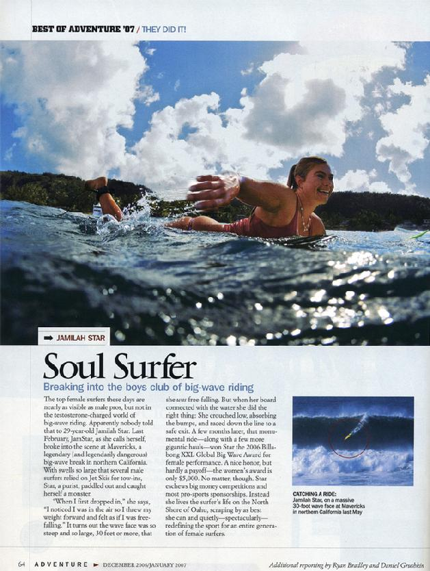 Jamilah featured in National Geographic Adventure